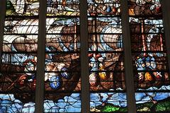 Vitrail de la vie de St-Louis - Ste-Chapelle de Champigny-sur-Veude