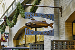 San Francisco Fish Company Sign – The Ferry Building Marketplace, San Francisco, California
