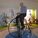 auf dem Hochrad im Zweiradmuseum Neckarsulm