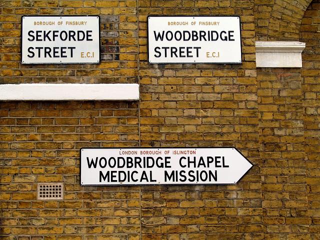 Sekforde & Woodbridge Streets EC1