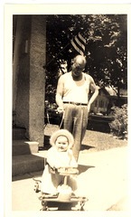 Joanne in the Taylor-tot and Uncle Nick, 1948
