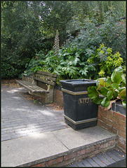 bin and seat at Mount Place