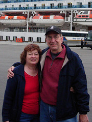 Off the ship at 6:00 a.m. ready for our first Alaskan excursion, seal clubbing.  No, we went to Misty Fiords.  Seal clubbing was sold out.