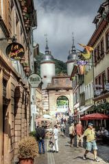Heidelberg, Steingasse und Brückentor (000°)