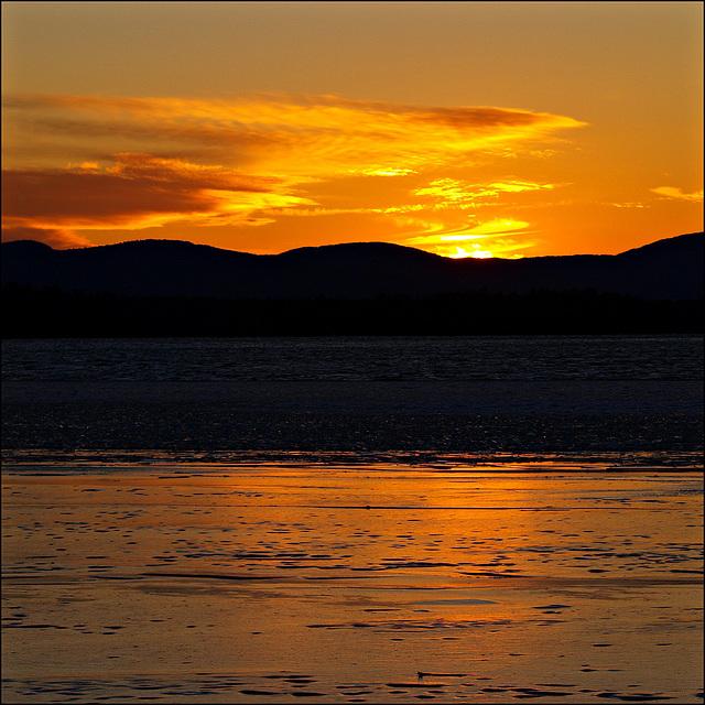 same lake, new day