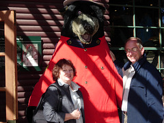 Mary and Rick meet their first mountie.  Nice guy but bad salmon breath