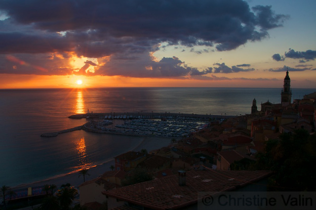 sunrise at Menton