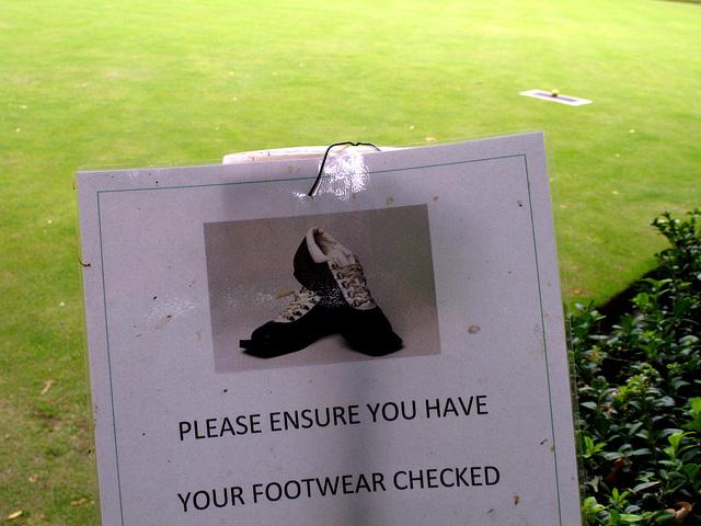They Check Footwear at Finsbury Circus