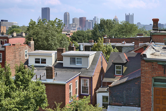Skyline – Viewed from the Mattress Factory Museum, Central Northside Neighbourhood, Pittsburgh, Pennsylvania