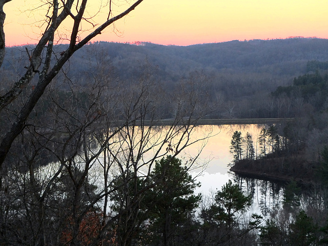Lake Hope, autumn, just after sunset