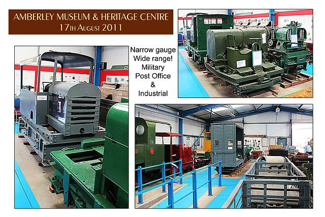 Industrial, military & Post Office narrow-gauge railway exhibits  - Amberley Museum - 17.8.2011