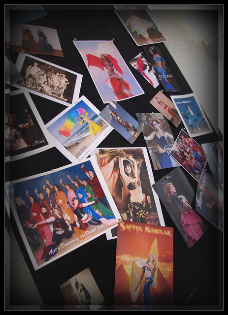 Festival on the Nile (FON) .. A Group of dancer photos displayed outside the ballroom -