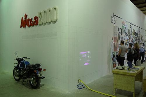 Rekonstruktion des Kunstraums Arosa2000 in der Ausstellung 25 Jahre Kunst und Club in der Ölhalle Offenbach