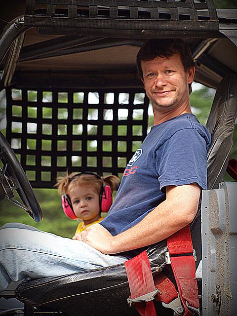 Scott and Lauren in the Bronco