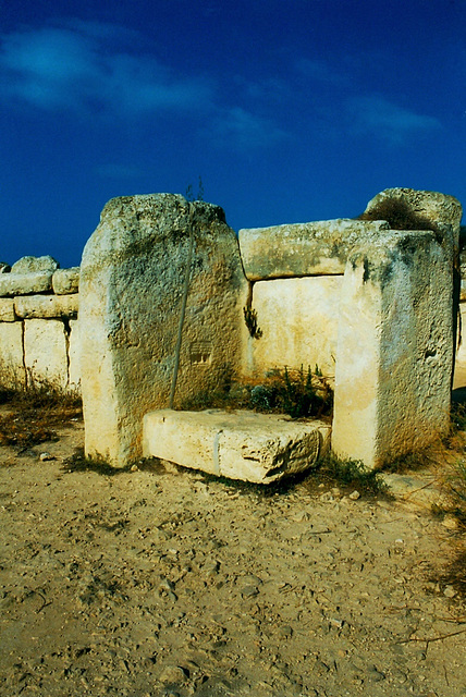 Side Wall Stones with Temple Engraving (Mnajdra)