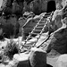 Cliff Dwellings in Black and White