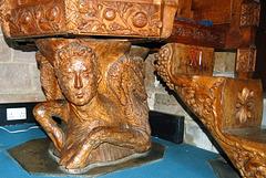 Detail of Pulpit, Saint Michael's Church, Birchover, Derbyshire