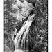 Jemez Falls in black and white