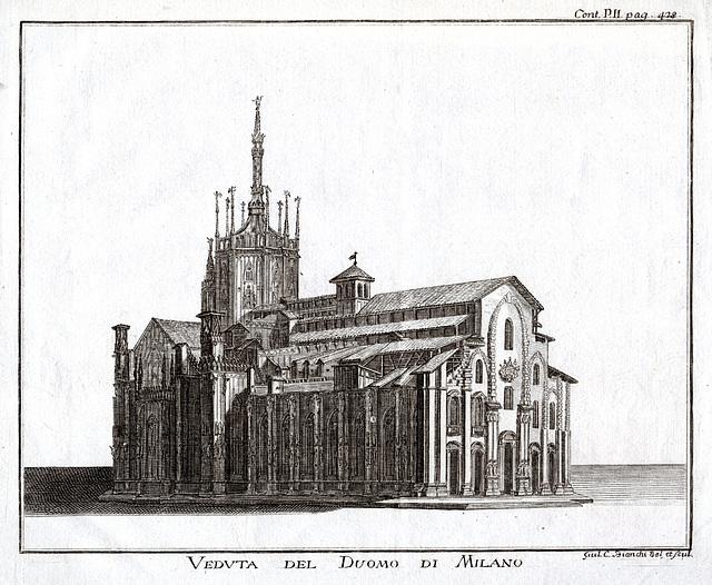 Il Duomo di Milano nel 1760