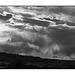 Ojito Wilderness clouds in black and white