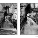 Soda Dam Falls diptych in black and white