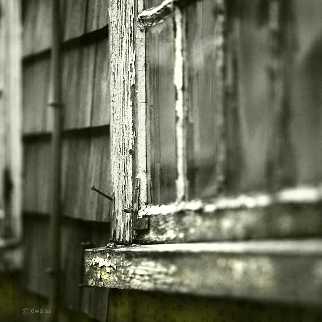 weathered window