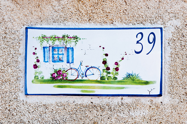 Hausnummerschild in La Cotinière - 2011-04-30-_DSC6935