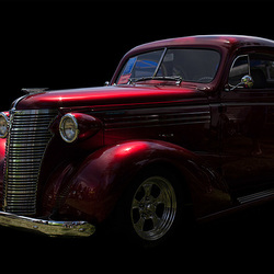 Glowing Red Chevy Master