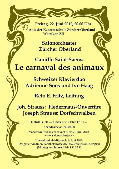 Camille Saint-Saëns : Le carnaval des animaux - Der Karneval der Tiere