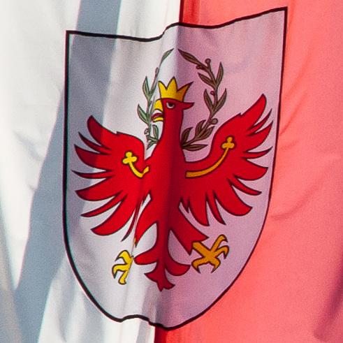 Wappen von Südtirol auf Südtiroler Fahne - 2010-10-21-_DSC5282