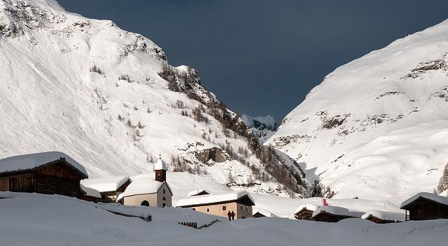 Fane-Alm im Winter am späten Nachmittag - 2009-01-24-_DSC3597