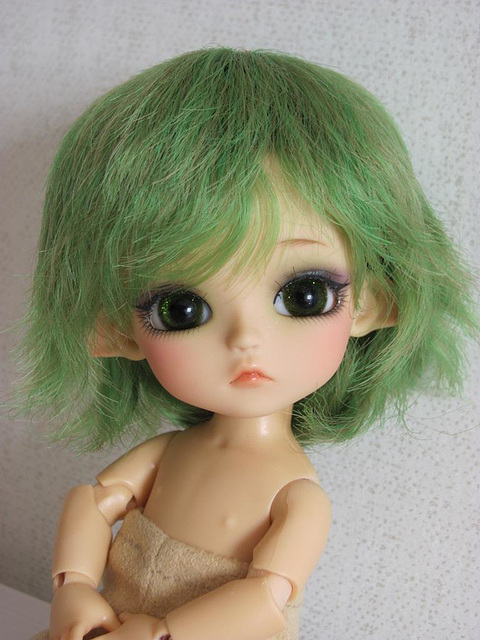 Yggdrasil in default green wig and with green eyes