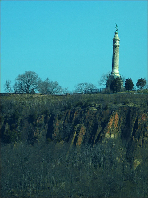 Soldiers and Sailors Monument, from the car