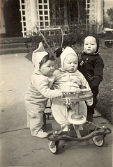 Unknown Cherubs of Plum Street, New Orleans, 1947.