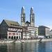 Limmatquai, Zunfthäuser und Grossmünster - 2004-04-29-Ixus400-IMG_2065