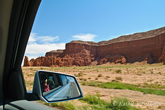 "Baby Rocks Outside Monument Valley shot out the window - The name is actally ""Baby Rocks""."