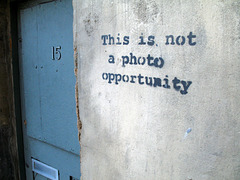 Banksy Not a Photo Op