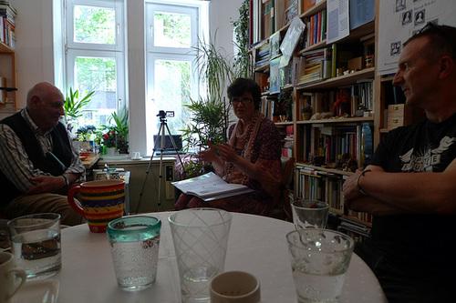 Gesprächsrunde bei Kurd Alsleben. Juni 2013