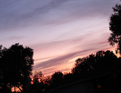 Dusk sky in December ..