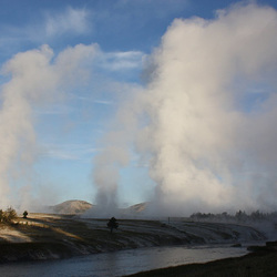 Morning at Midway Geyser Basin