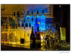 Teeny Martini Bar Bottles in Blue