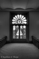 Minaret Window Plant Hall University of Tampa - HDR B&W - Explore 10/29/11 #367
