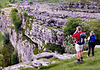 View from the top of Malham Cove.