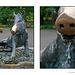 Boar fountain diptych