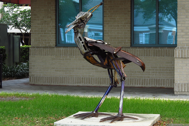 sculpture  of recycled materials .. Another Link in the Chain ..