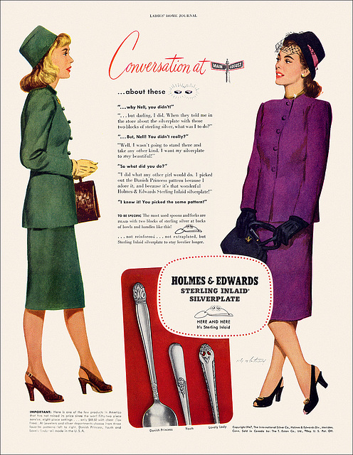 Holmes & Edwards Silverplate Ad, 1947