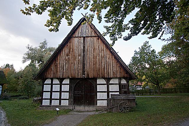 20121008 1516RWw-Lippischer Meierhof, Schafscheune, Schäferkarren