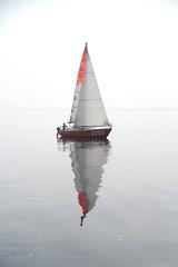 Reflet dans la brume
