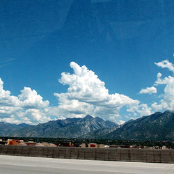 Gorgeous clouds over the mountains