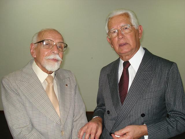 Os acadêmicos Vilmar de Abreu Lassance e Edmo Rodrigues Lutterbach - 29-08-2007